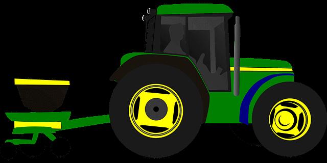 Tractor met GPS
